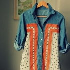 DIY Vintage Scarf Shirt