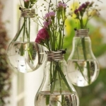 DIY Vases made from old lightbulbs!