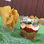 Simple seven layer dip for bite size snacking!