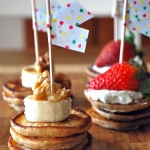 Mini pancake breakfast bites.