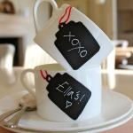 DIY: chalkboard tag teacups