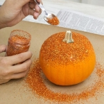 Halloween Glitter Pumpkin