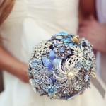 This is a DIY wedding bouquet; it's gorgeous!