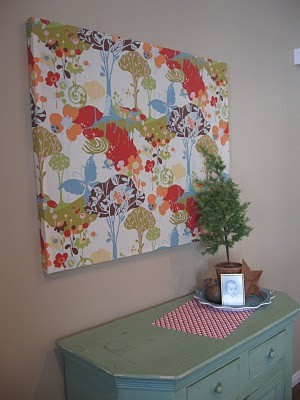 DIY wall art nail strips of wood together and staple fabric over all, ta-da canvas (look a like ) art!