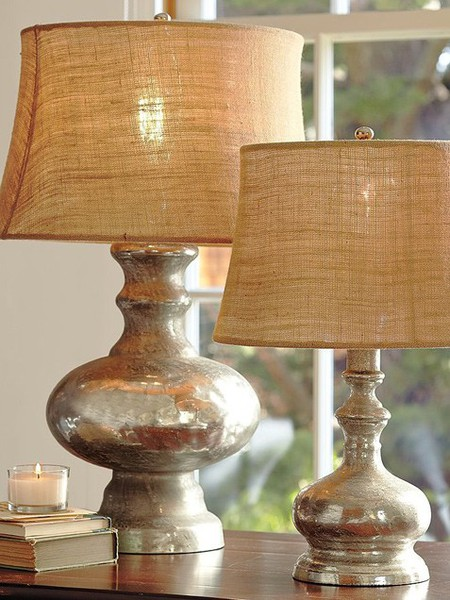 Great way to transform some Goodwill lamps Krylon's Looking Glass spray paint