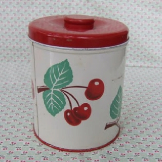 Vintage-Cherry canister