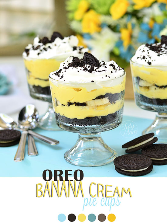 Easy Oreo Banana Cream Pie Cups