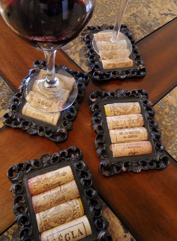 DIY Rustic Cork Coasters Using Small Picture Frames « YApins