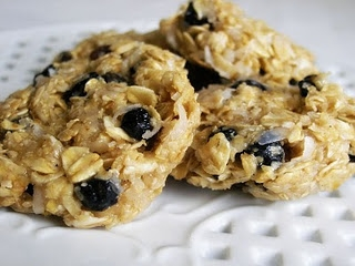No Bake Blueberry Oatmeal Cookies