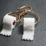 Cute Beaded Toilet Paper Earrings